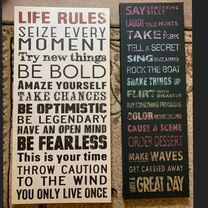 Canvas inspirational quotes!